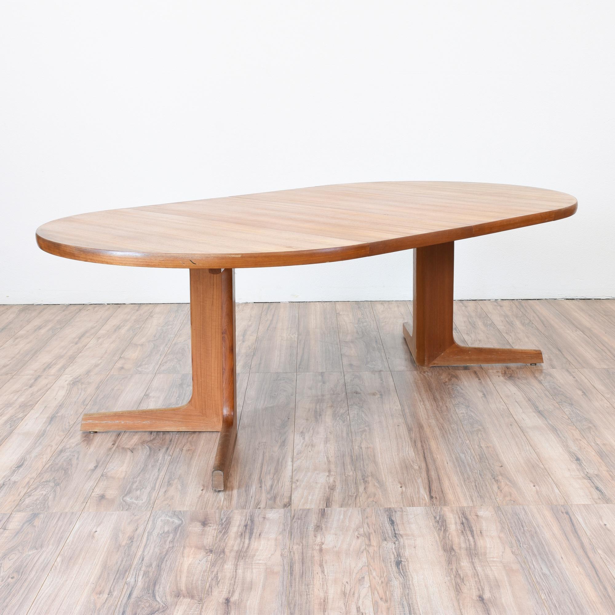 Quot D Scan Quot Danish Modern Teak Dining Table Loveseat