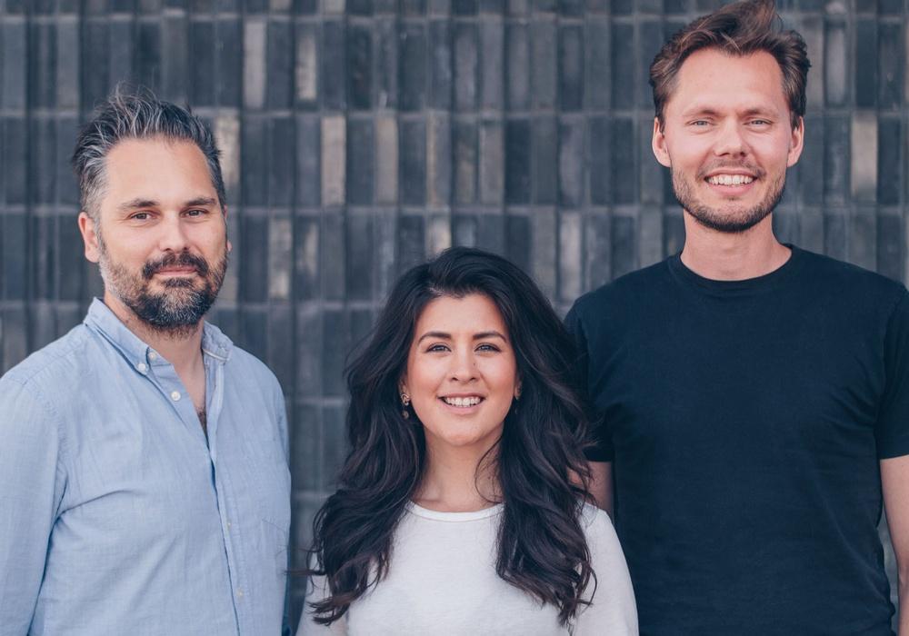 Martin Kretz, Pamela Nunez Wallgren och Jesper Wallgren, grundare av Finch 3D.