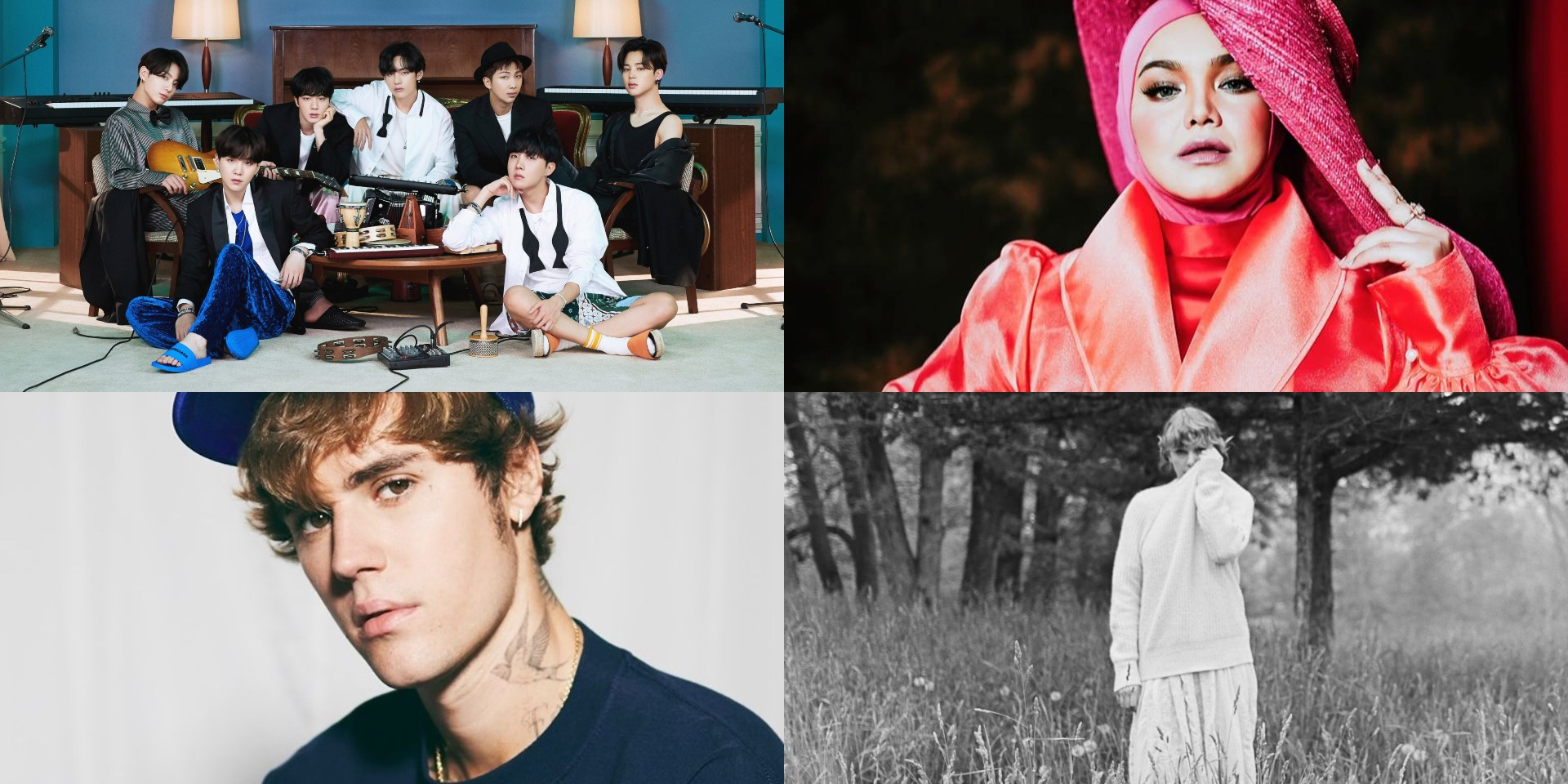 Spotify 2020 Wrapped Malaysia: BTS, Dato' Sri Siti Nurhaliza, Justin Bieber, Taylor Swift, and more emerge as most streamed artists