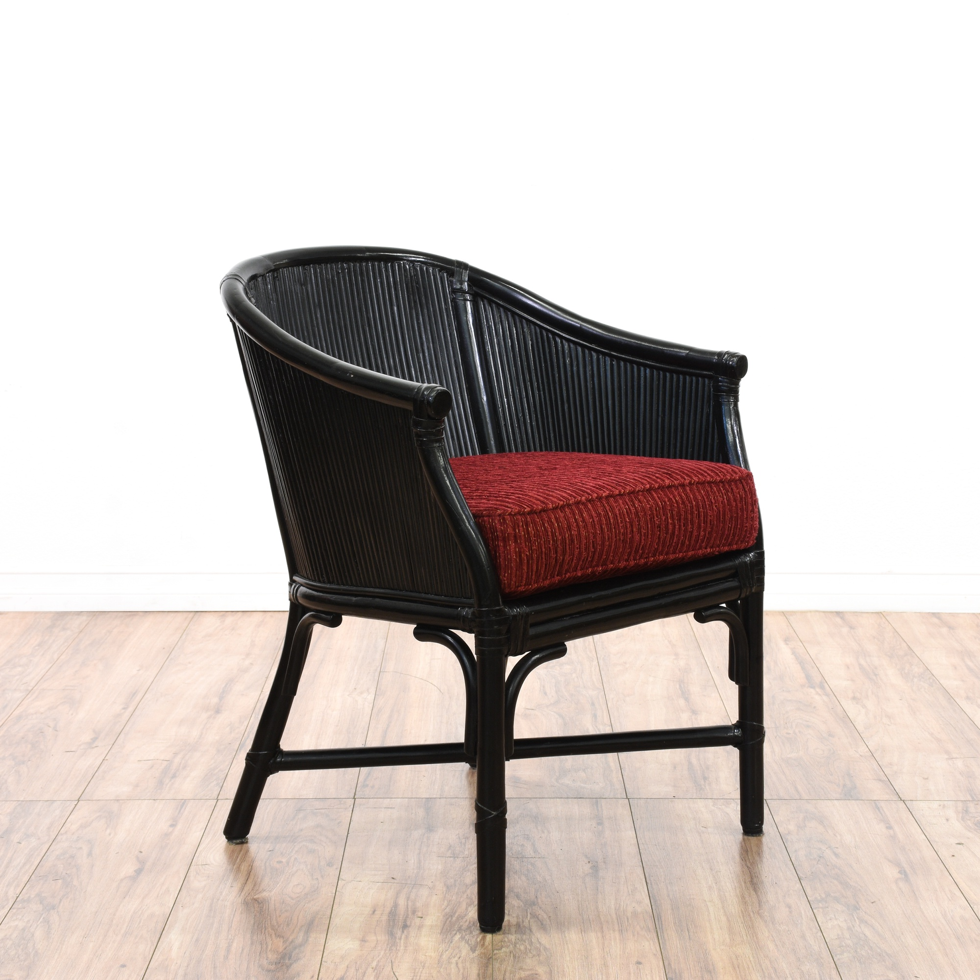 Black Rattan Accent Chair Loveseat Vintage Furniture San