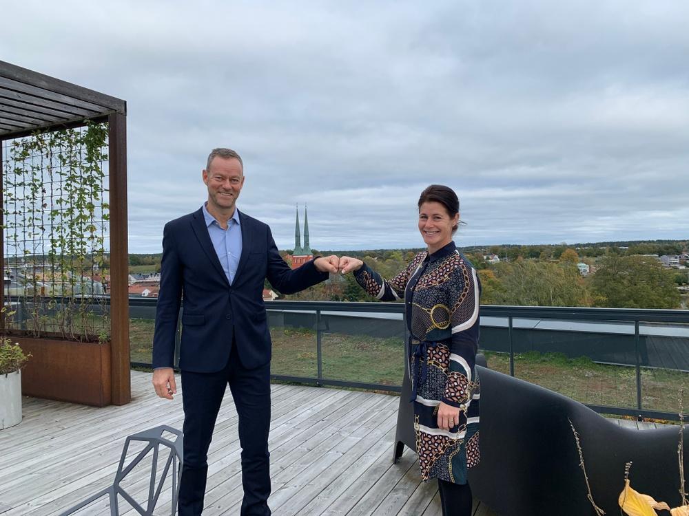 Mats Lundmark, vd Almi Kronoberg, och Jenny Rungegård, affärsområdeschef Castellum.