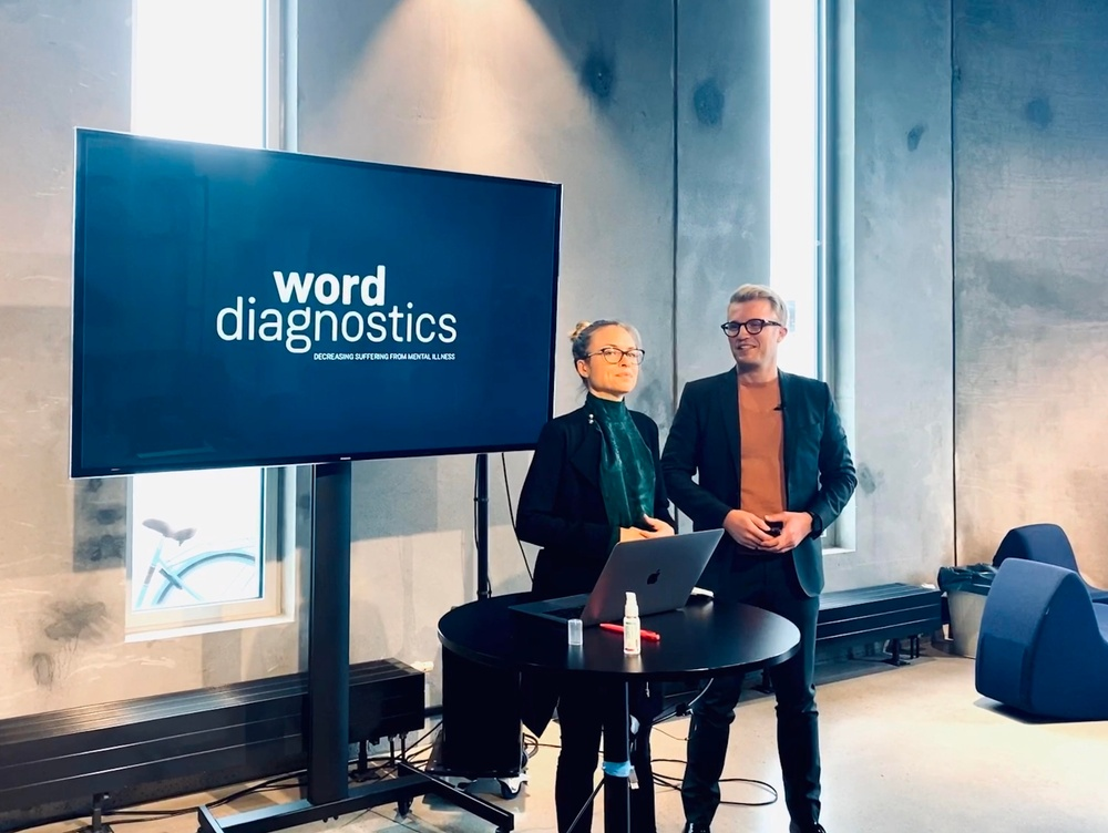 Worddiagnostics. Co-founder - Katarina Kjell, CEO - Tomas de Souza.