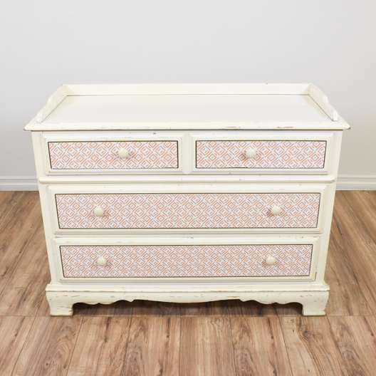 Cottage Chic White Chest of Drawers
