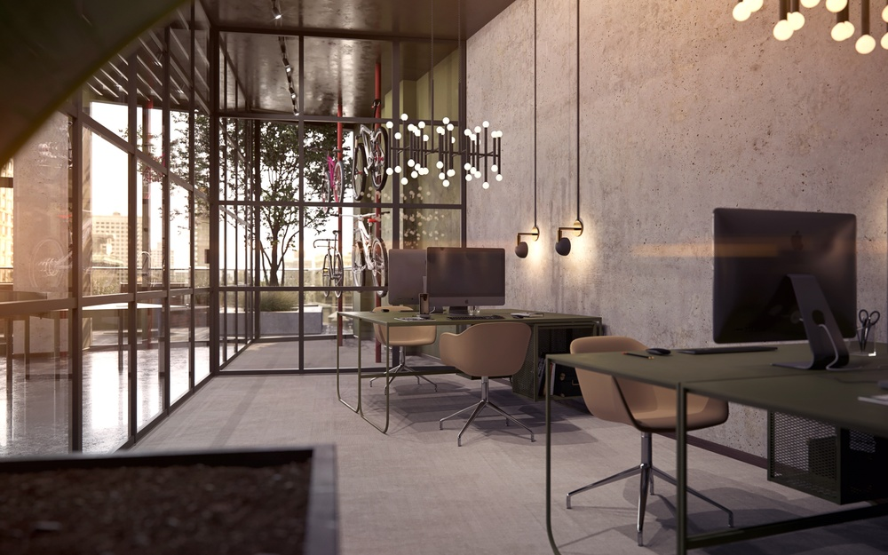3D render from wec360°'s visualization project for 1245 Broadway.