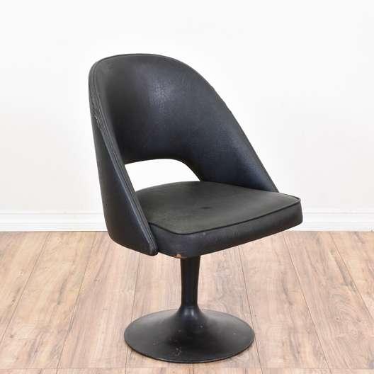 """""""Chromodern"""" Black Swivel Tulip Chair"""