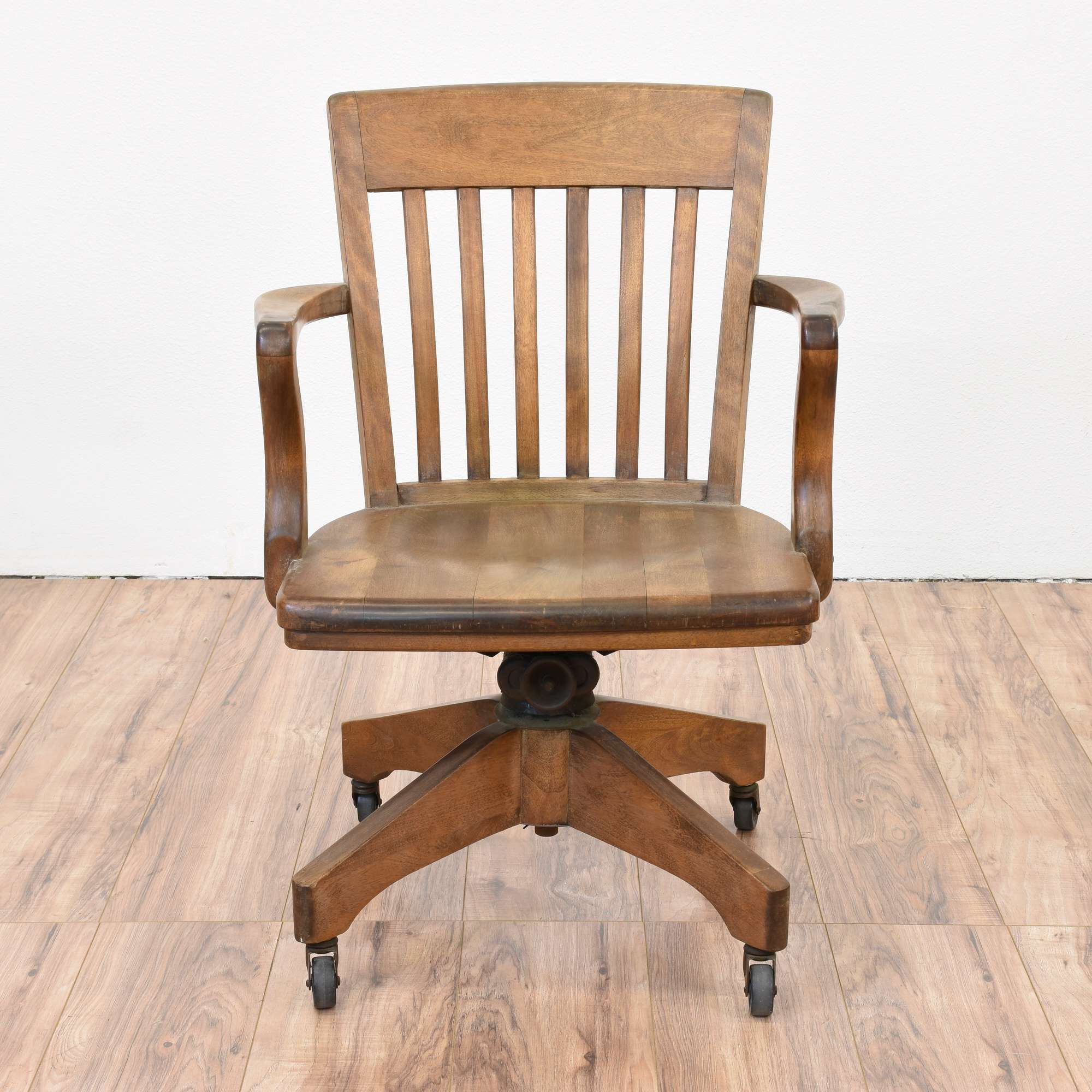 Solid Wood Rolling Office Chair Loveseat Vintage Furniture San Diego