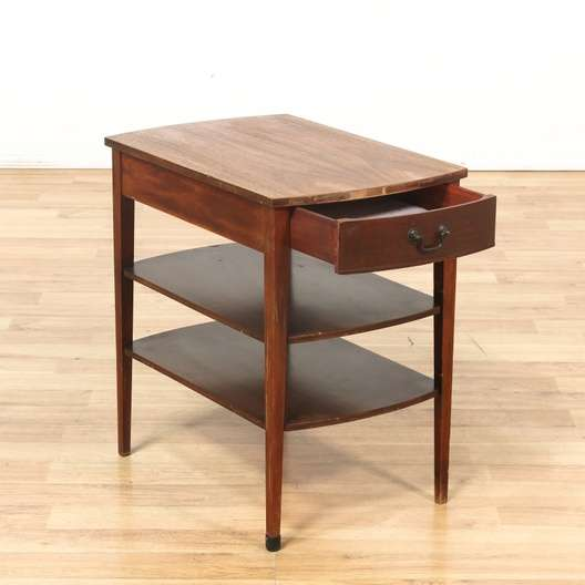Mersman End Table w Drawer 2 Shelves Loveseat Vintage