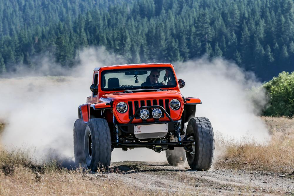 Jeep Wrangler Sandstorm Review | Driving Jeep's monster truck