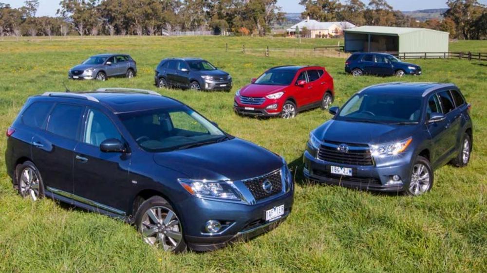Seven-seat 4WD comparison review: Toyota Kluger v Mazda CX-9 v