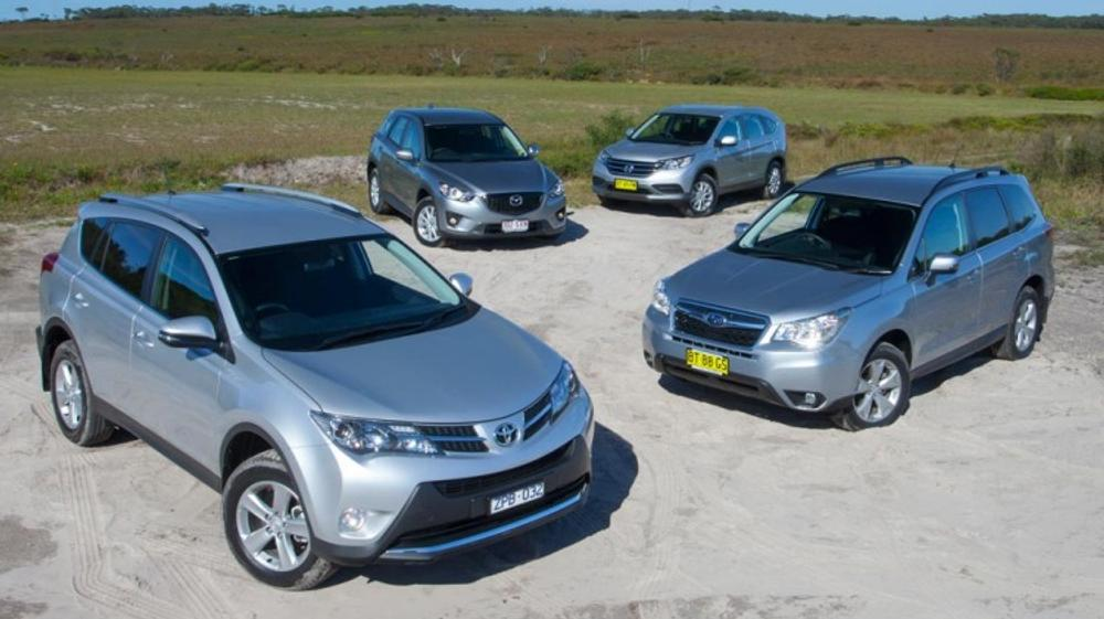 SUV comparison: CX-5 v RAV4 v CR-V v Forester