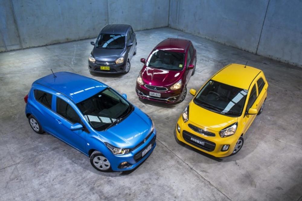 Holden Spark v Kia Picanto v Suzuki Celerio v Mitsubishi Mirage