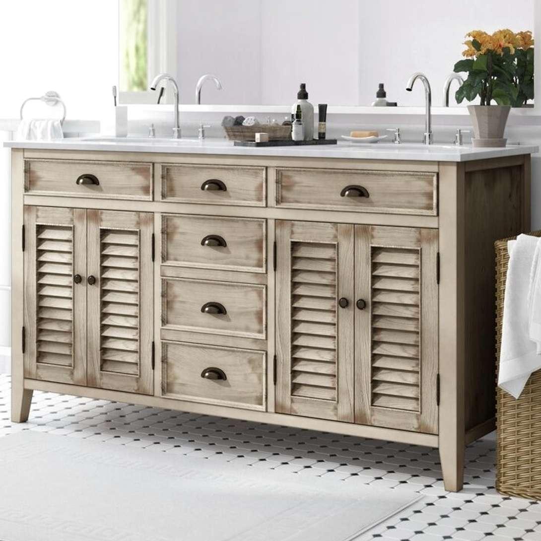 Lark Manor Ayala 60 Beige Double, Bathroom Vanity San Diego