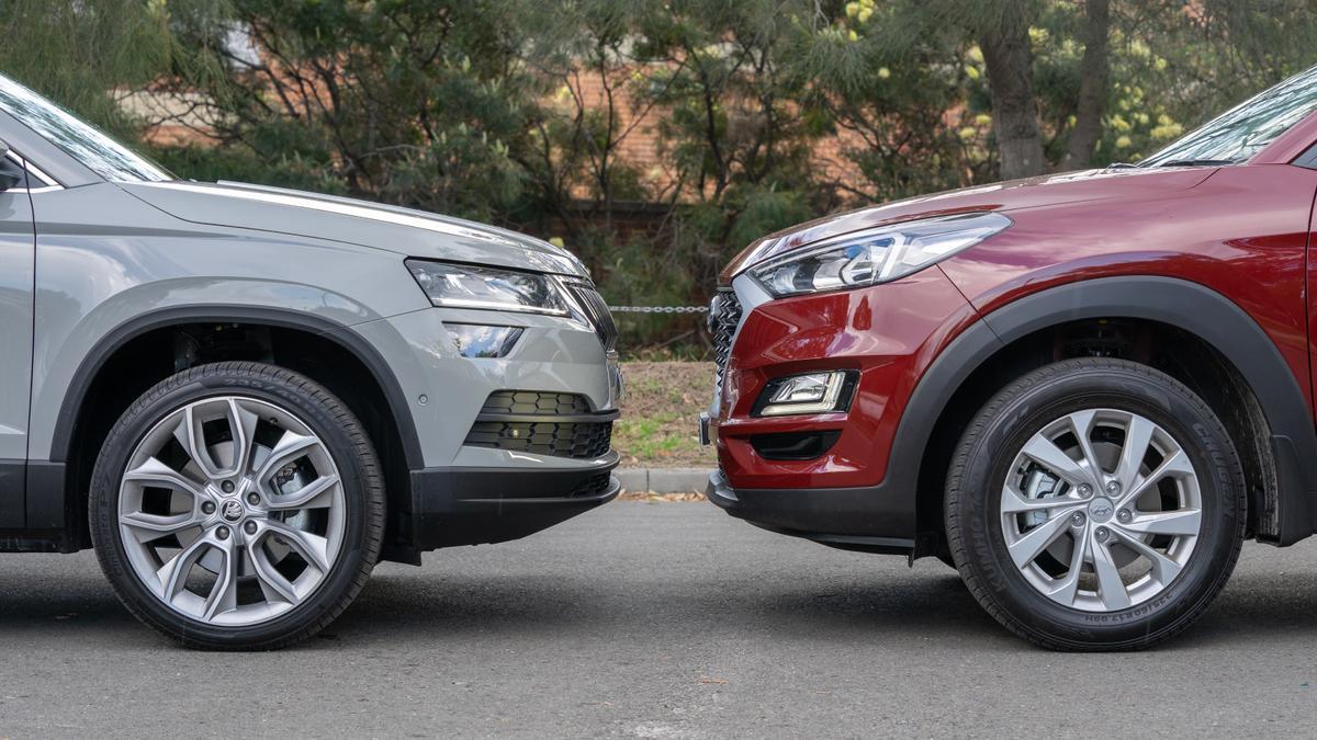 Skoda Karoq v Hyundai Tucson Head to Head review
