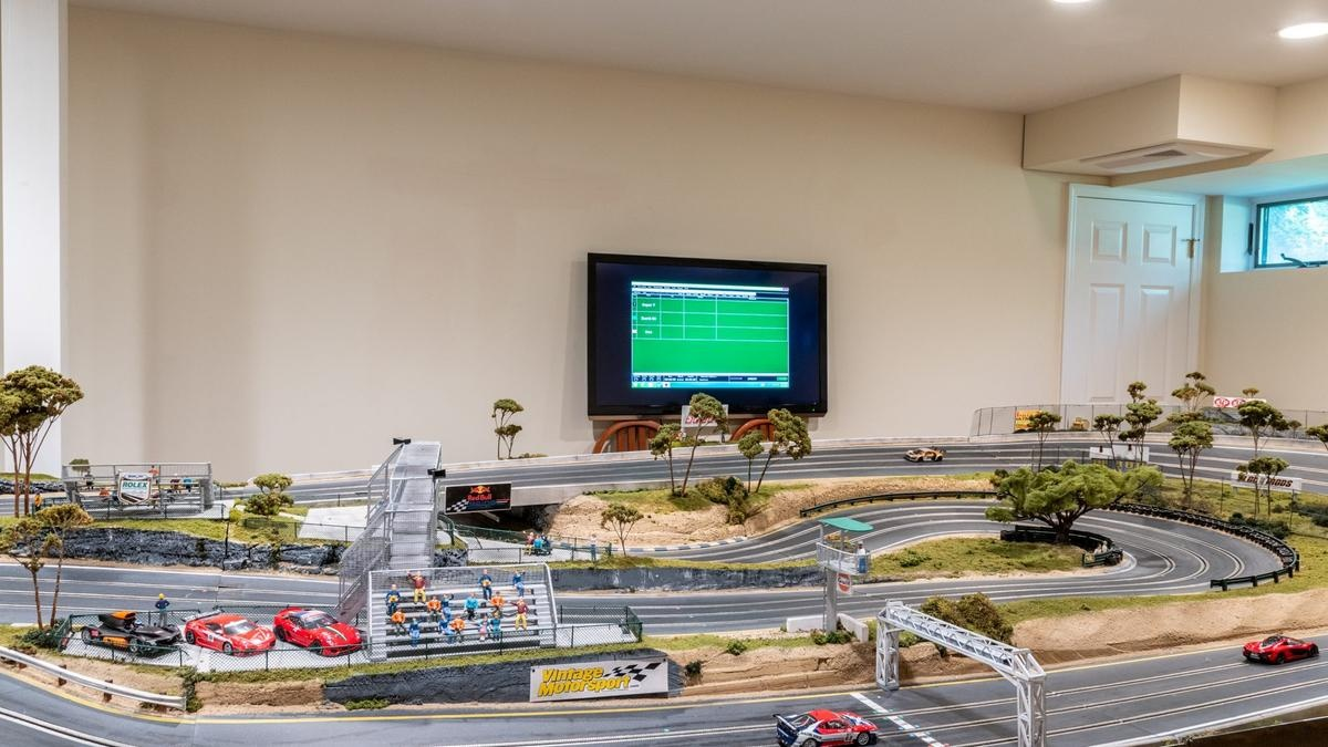The six-metre long car slot track is the ultimate childhood dream
