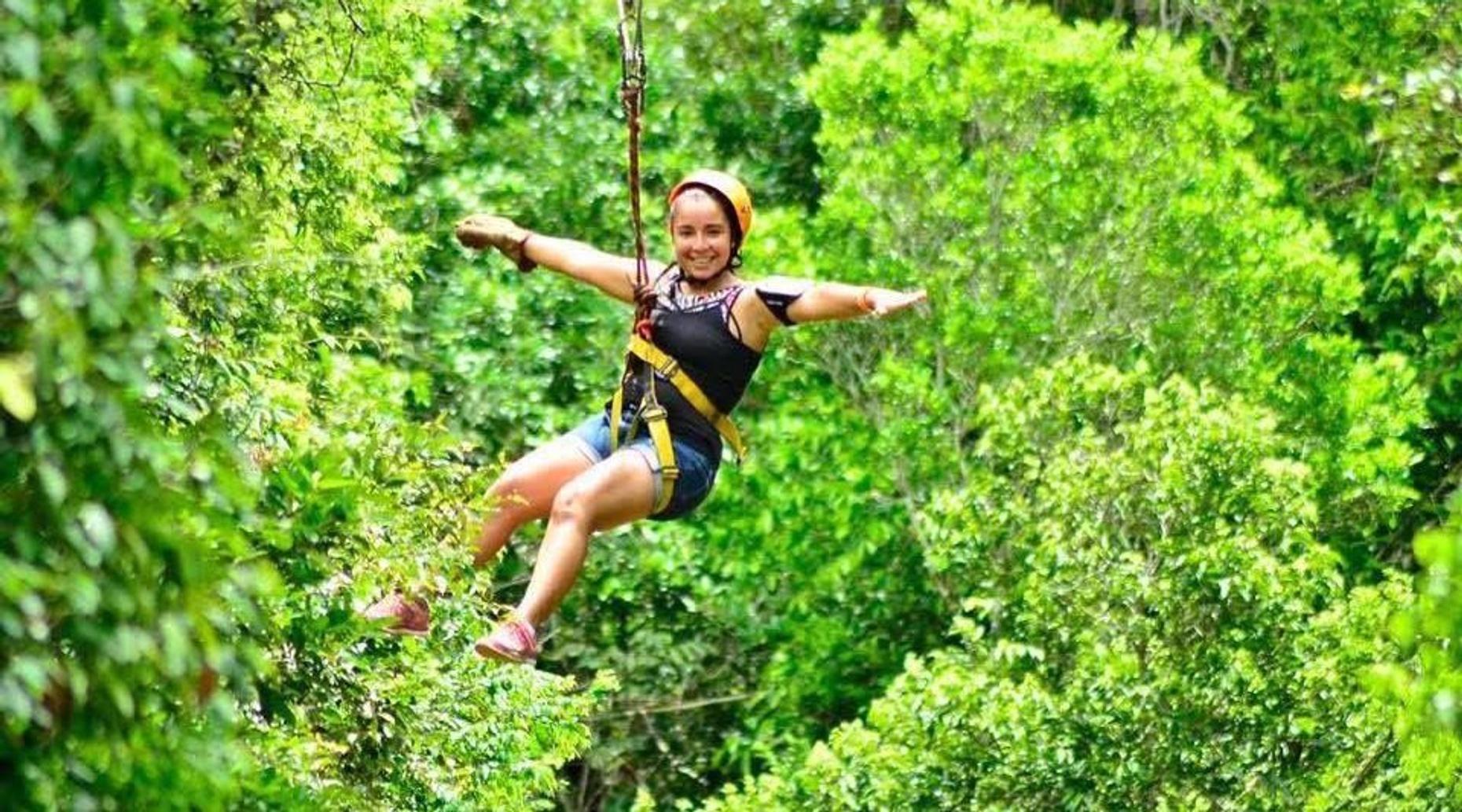 Ziplining Adventure in Boca del Puma