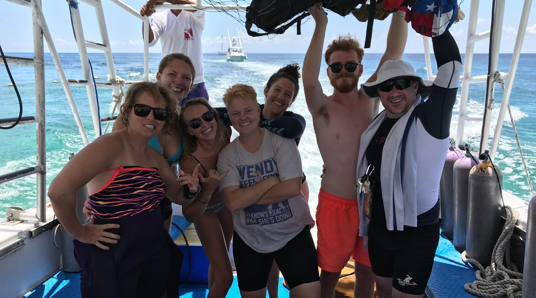 Guided Two-Tank Scuba Dive Boat Trip in Cozumel