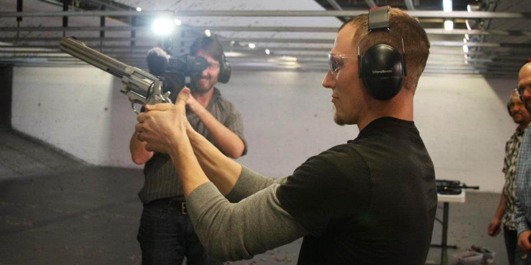 Shooting Practice with Film-Famous Firearms in Las Vegas