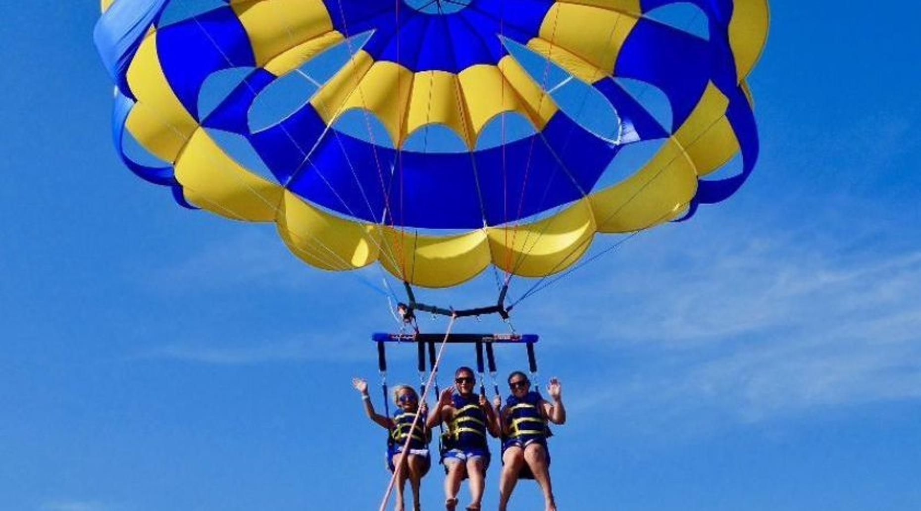 Parasailing Over Palm Beach