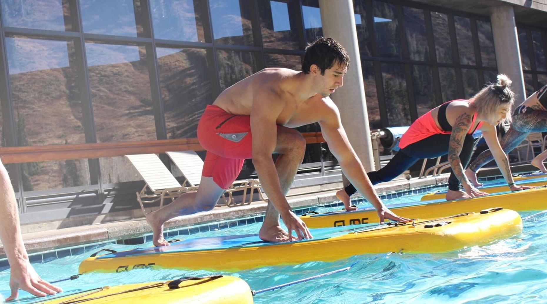 Stand-up Paddleboard Yoga in the Pool