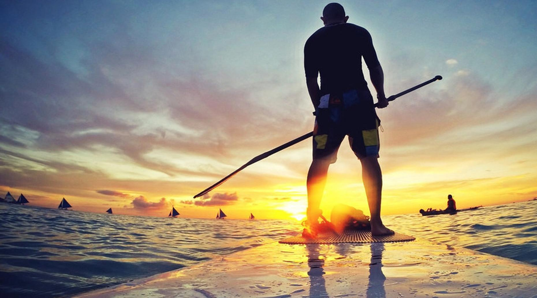 Sunset Paddleboard Tour in Miami Beach