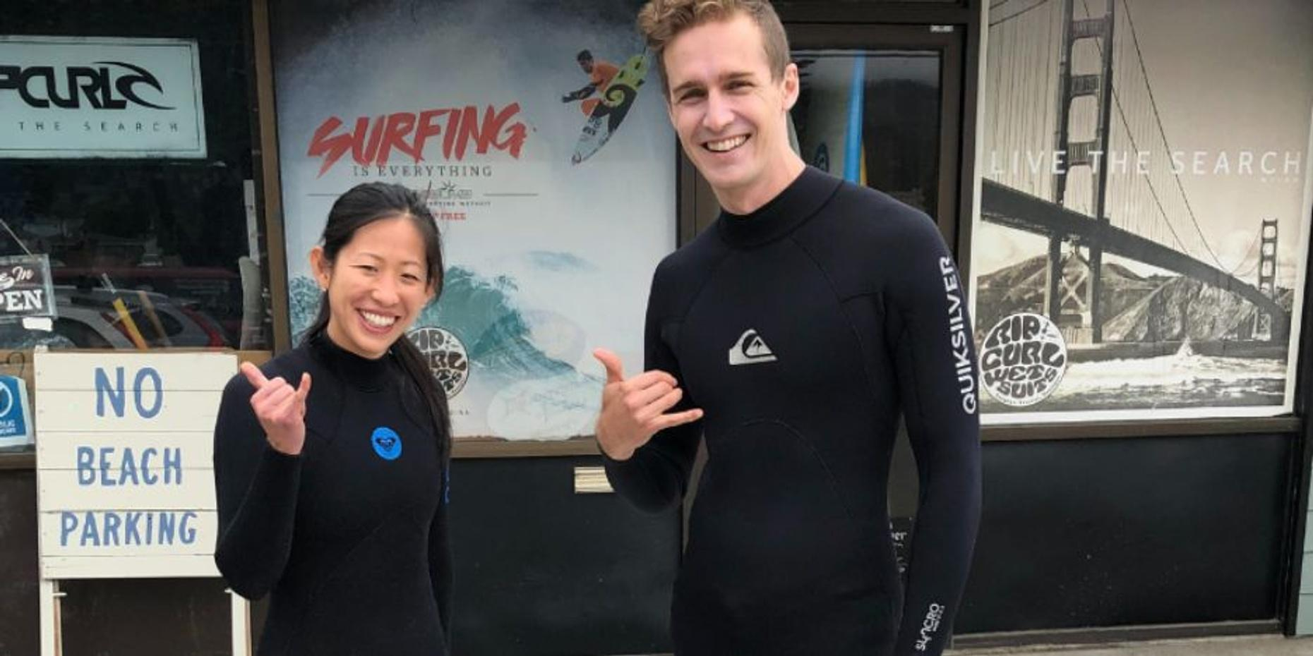 Half-Day Couples Surf Camp in San Diego