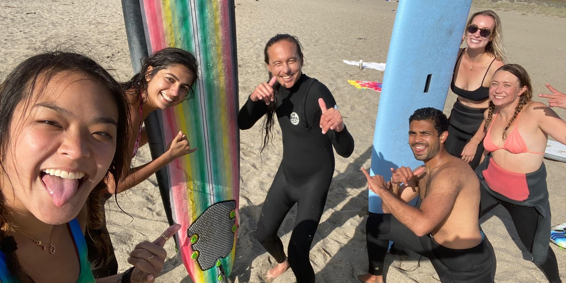 Group Surf Class in San Francisco