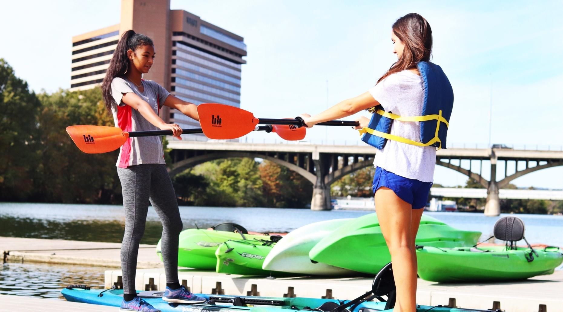 Private Paddling Lesson in Austin
