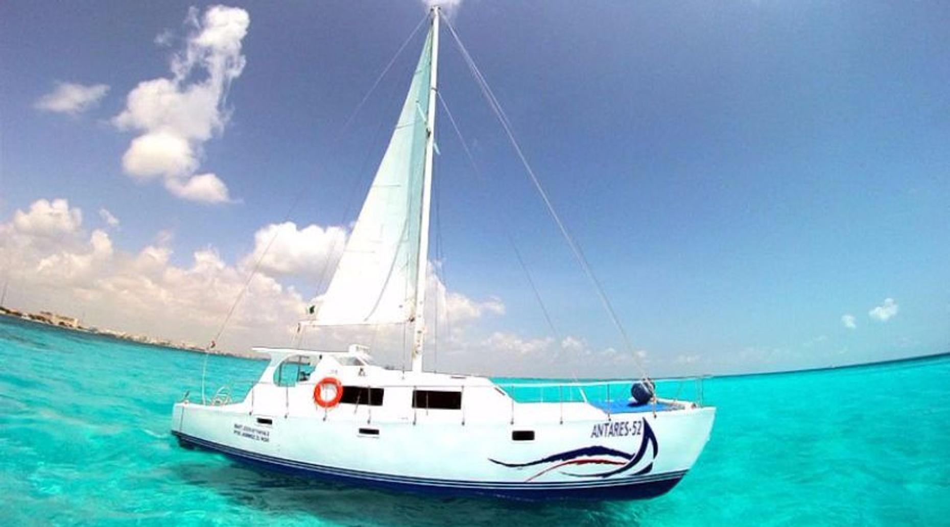 Full-Day Sailing Trip on the Antares 52 to Isla Mujeres