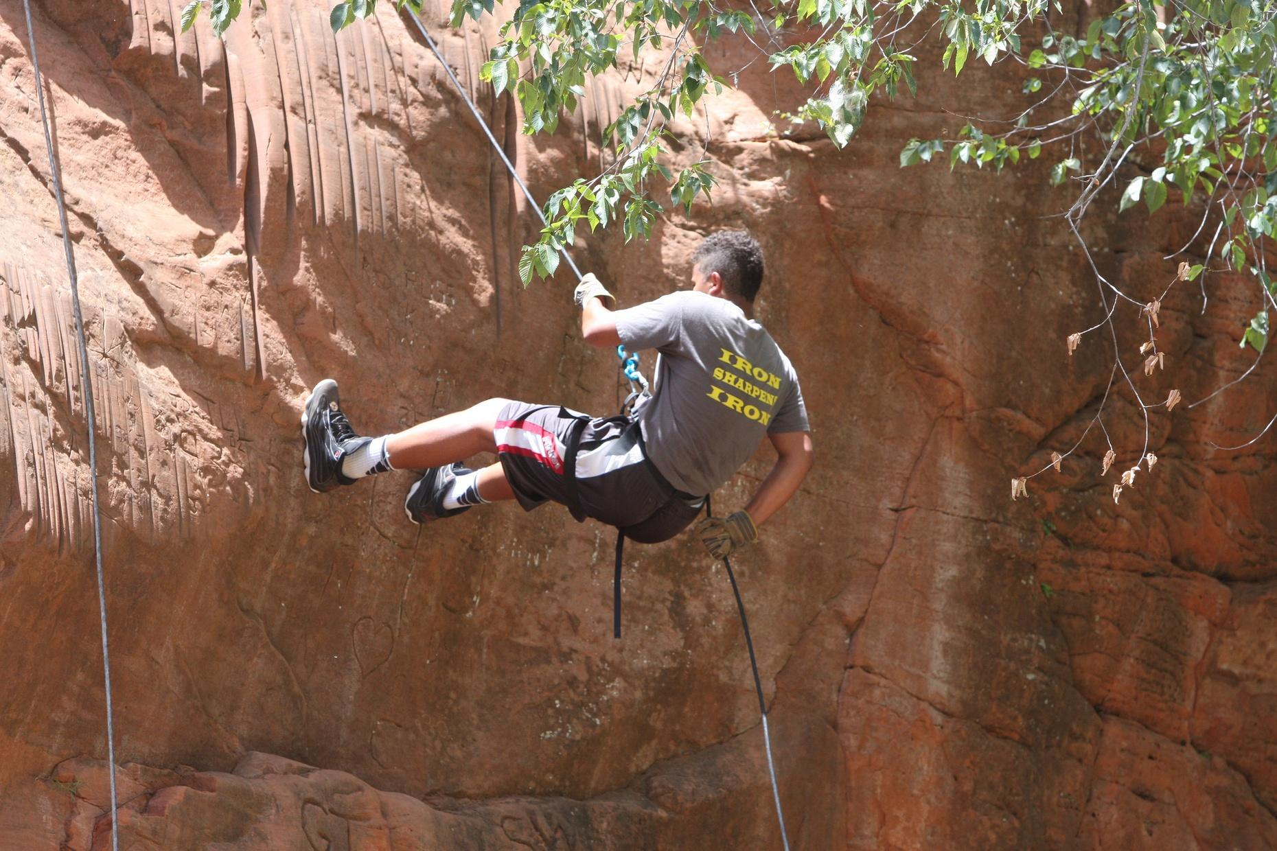 High Rocks State Park Outdoor Rappelling Adventure