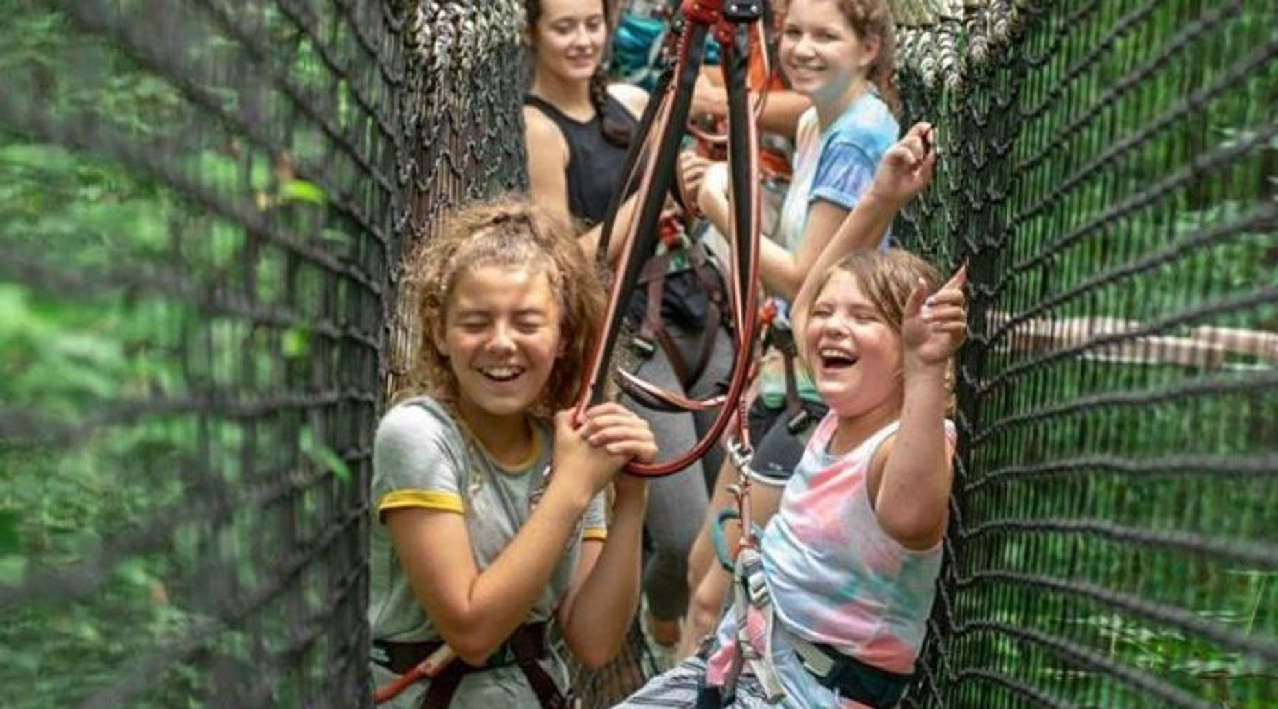 Aerial Adventure Course for Kids in Riegelwood