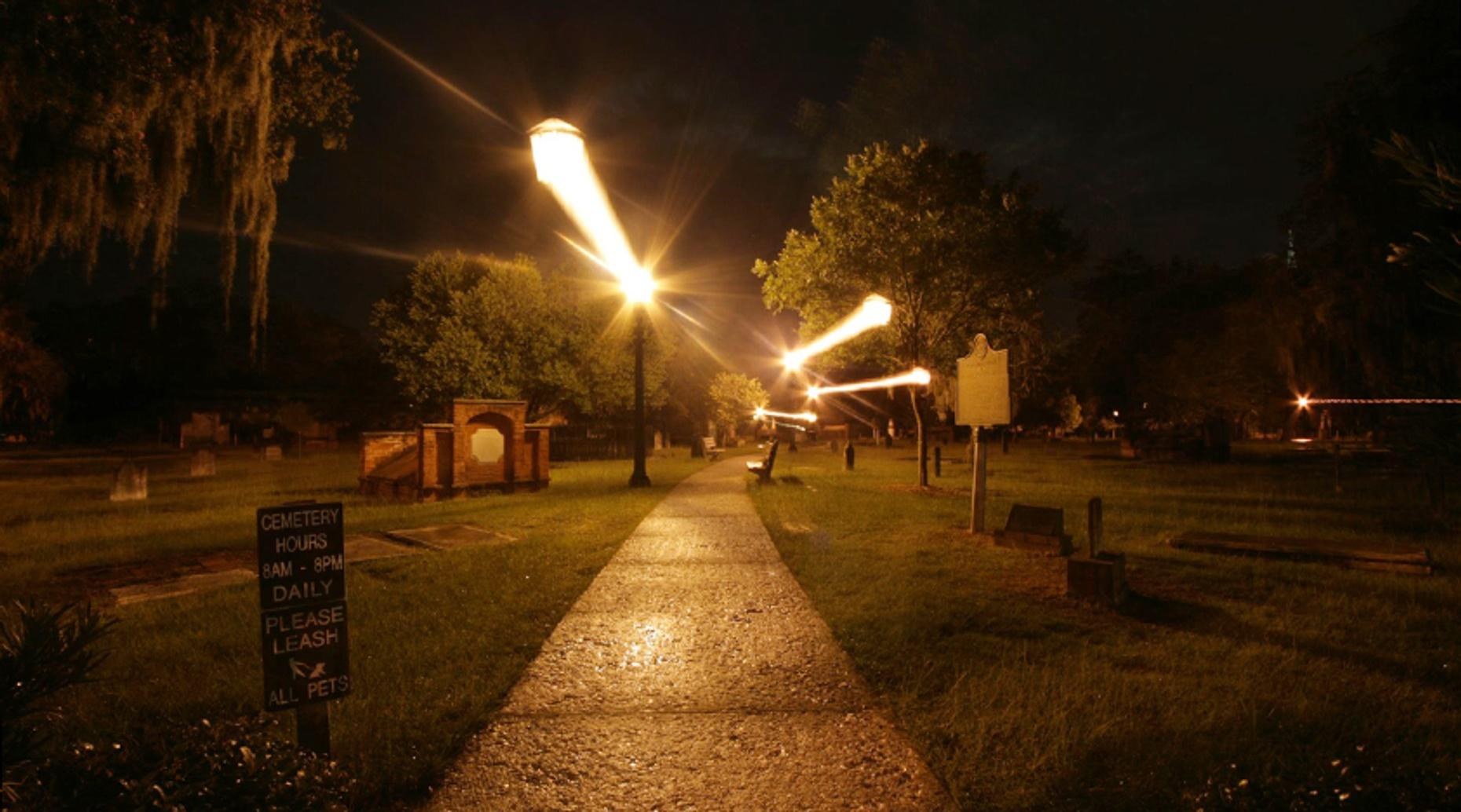 Guided Ghost Biking Tour from a Cemetery in Provo