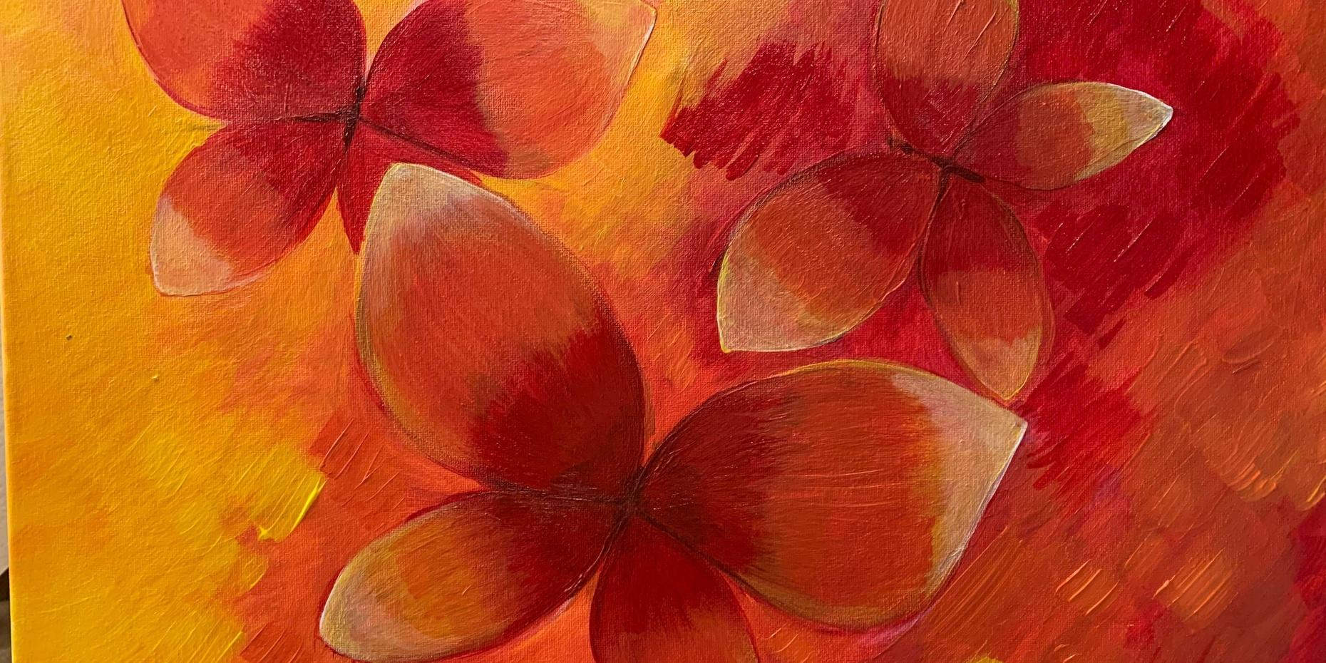 Paint and Wine Event - Triple Butterfly