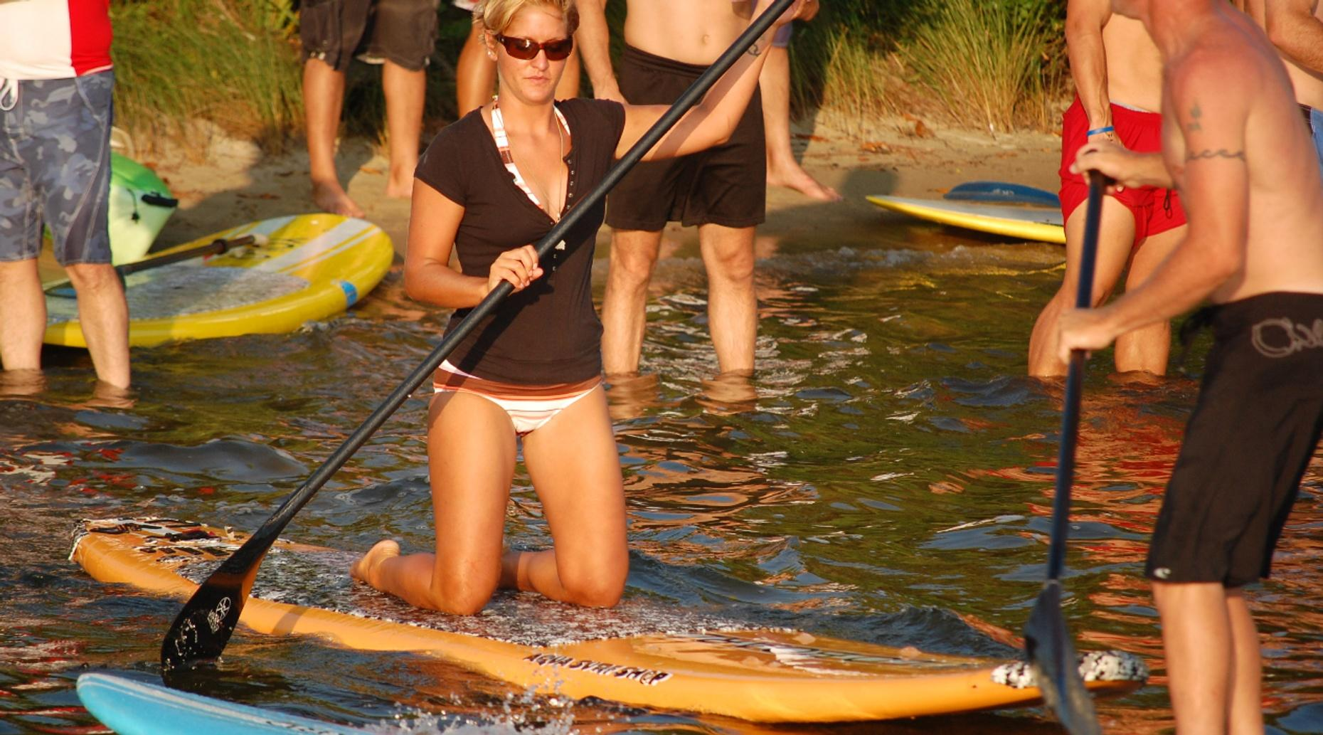 Stand-Up Paddleboard Fitness Class on the Napa River