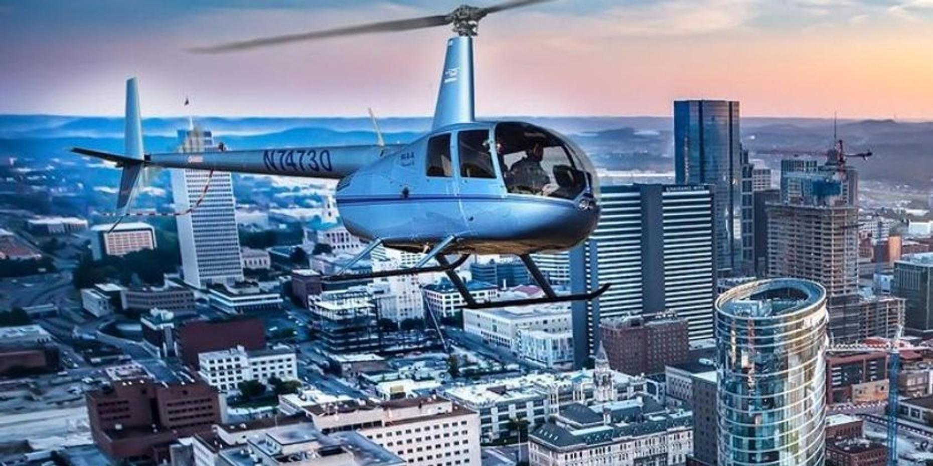 Helicopter Tour of Downtown Nashville (15 mins)