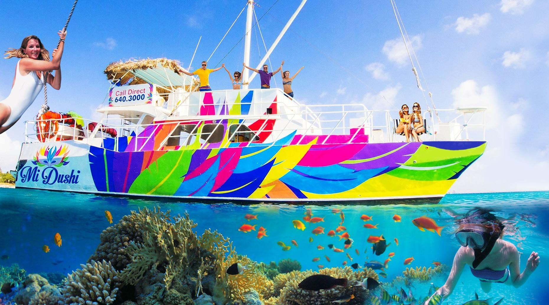 Boat & Snorkeling Tour of Aruba with Lunch