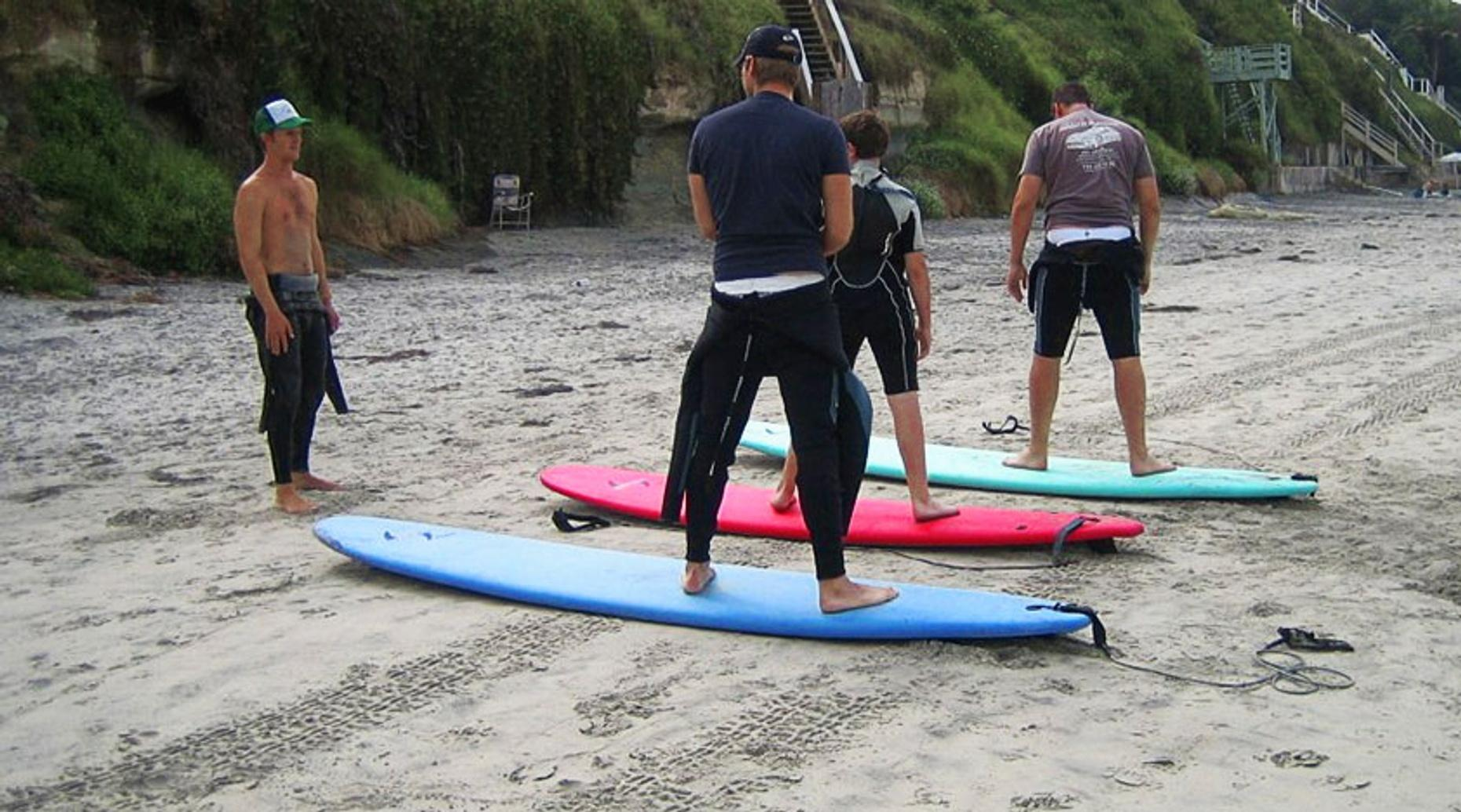 Private Group Surf Lesson on Carmel Beach