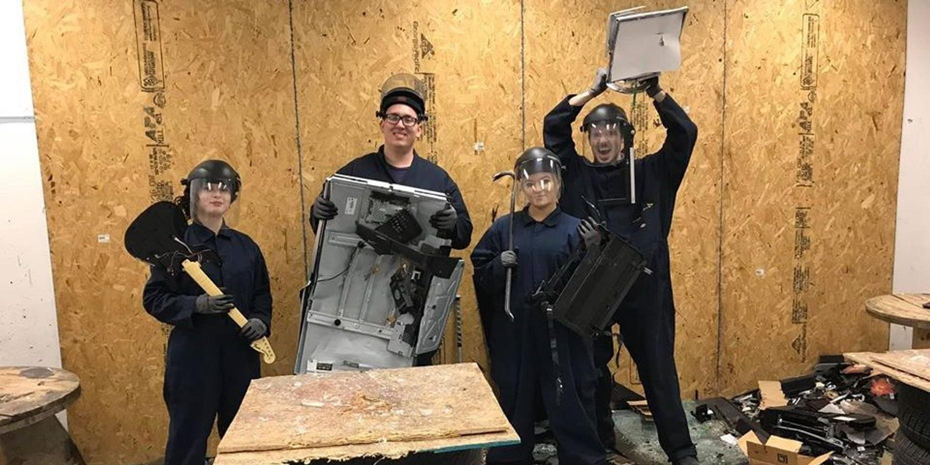 The Ultimate Anger Package in Akron's Rage Room