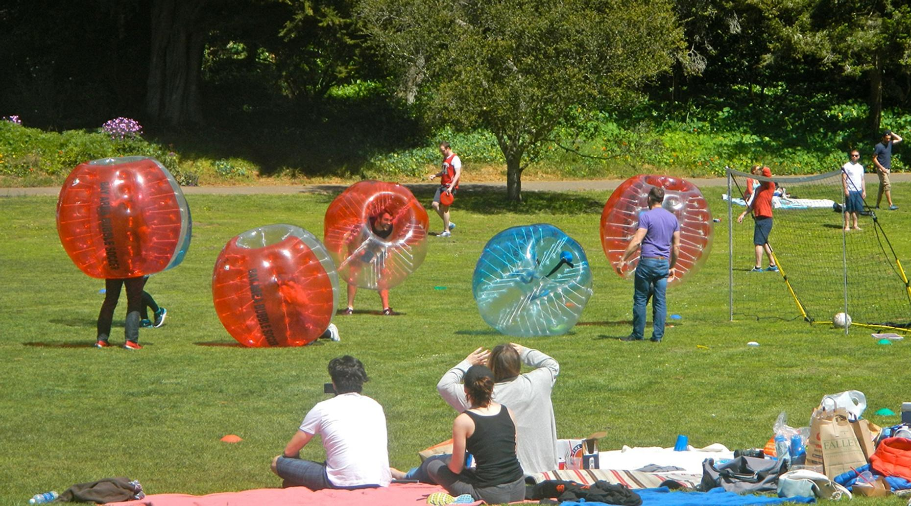 Two-Hour Bubble Soccer Game in Richmond