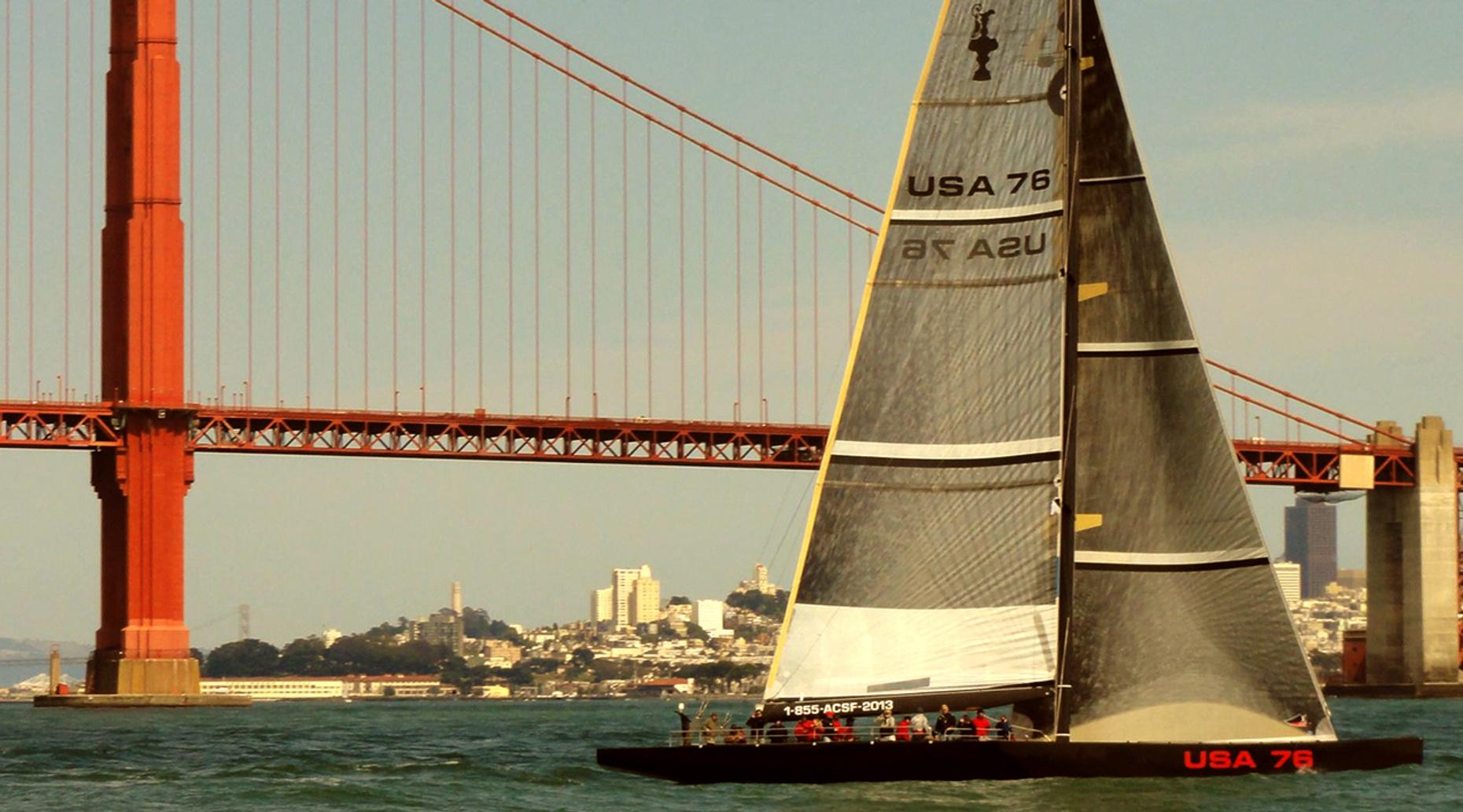 San Francisco Bay Sunset Sail on on the USA 76