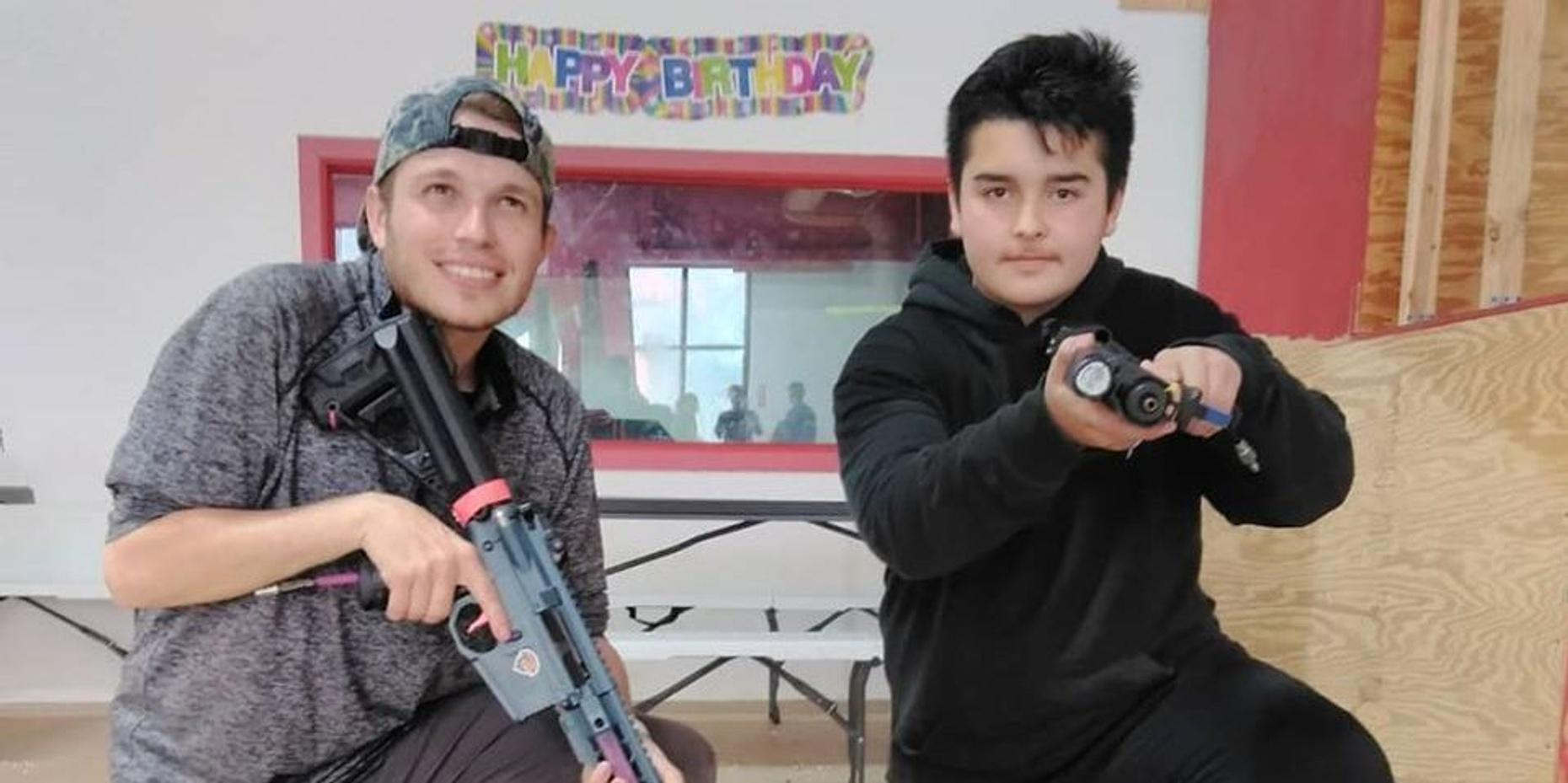 Airsoft Replica Rifle Shootout Birthday Package in Houston