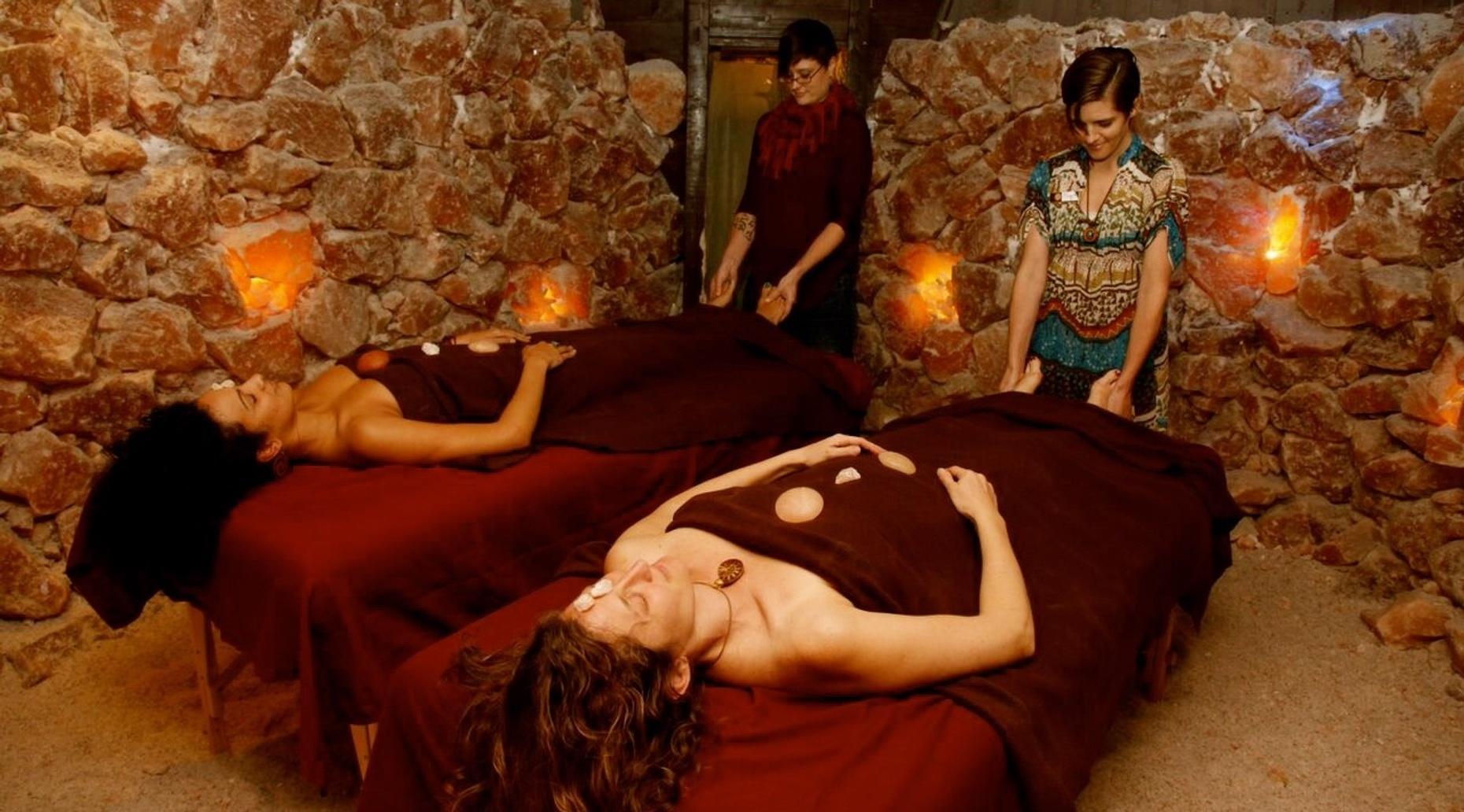 Couples Massage inside the Salt Cave