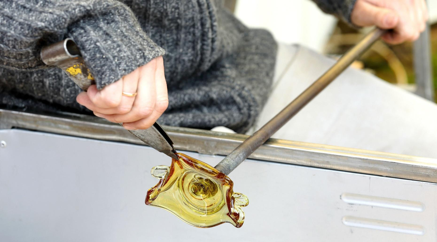 Flower Glass Blowing Class in Decatur
