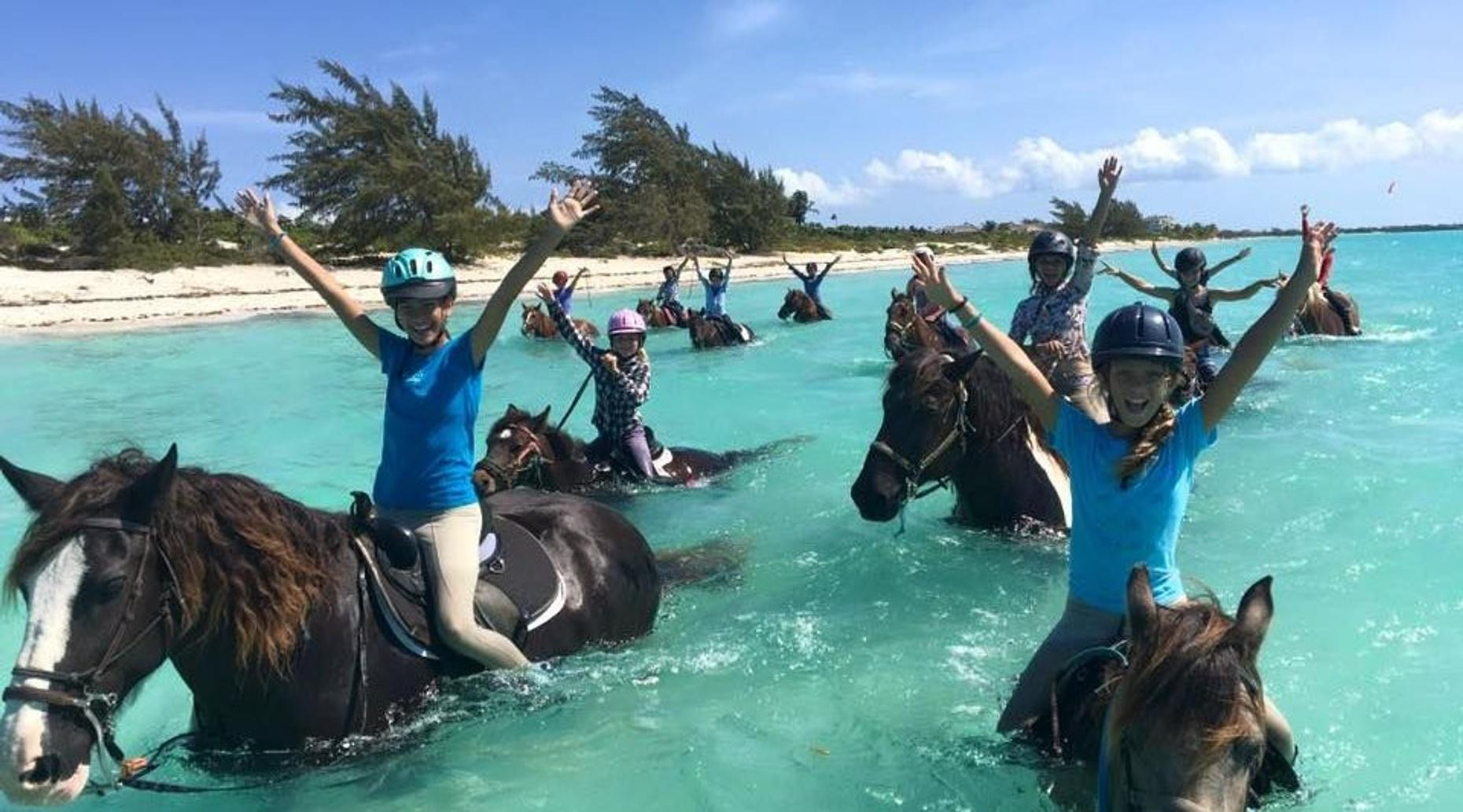 60-Minute Group Horseback Ride in Turks & Caicos