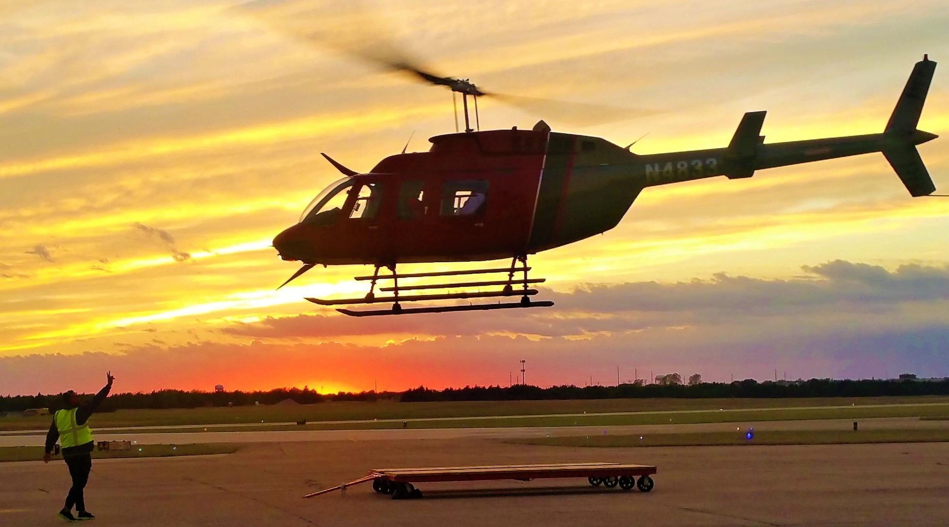 Private Helicopter Flight over Dallas