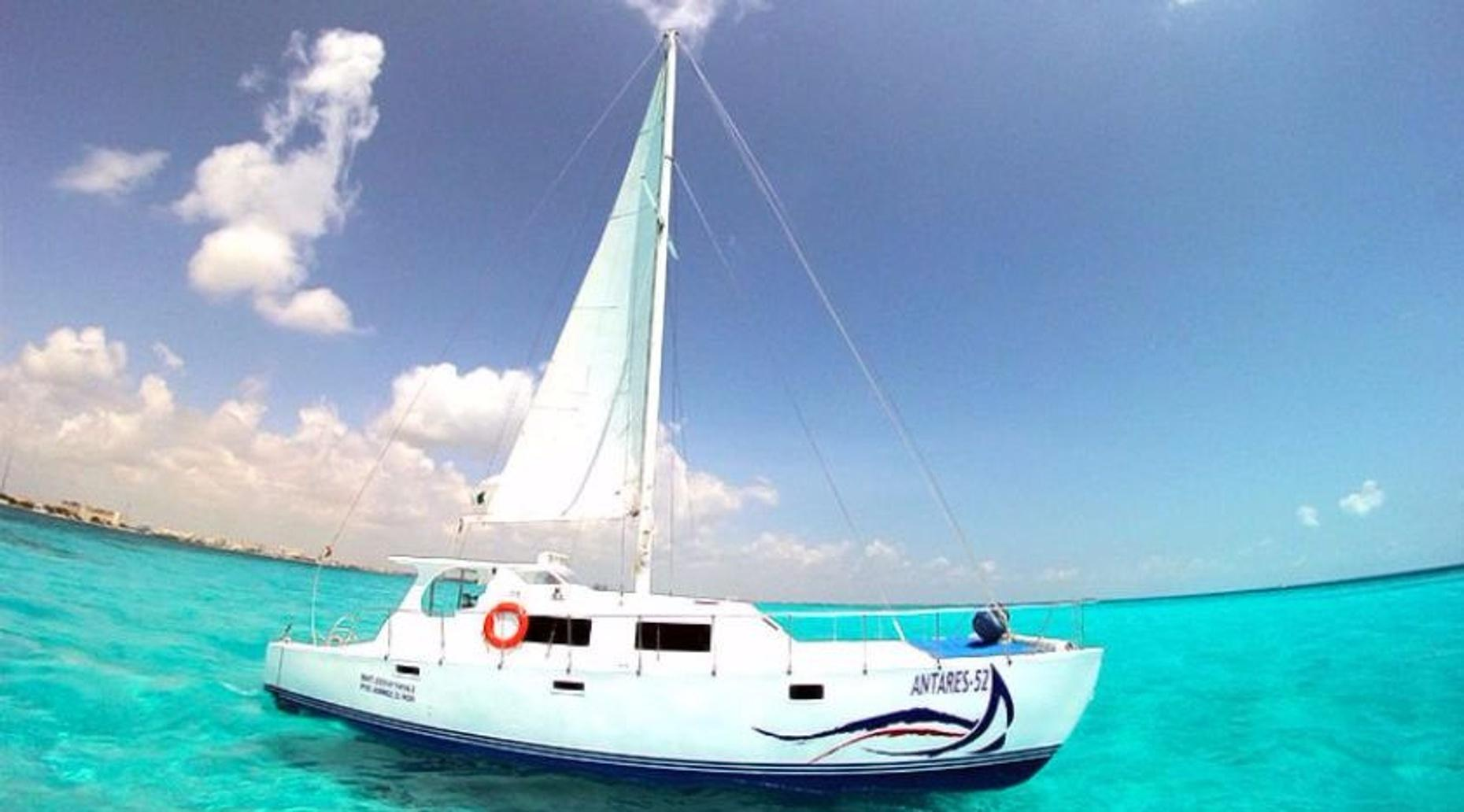 Half-Day Sailing Trip on the Antares 52 to Isla Mujeres