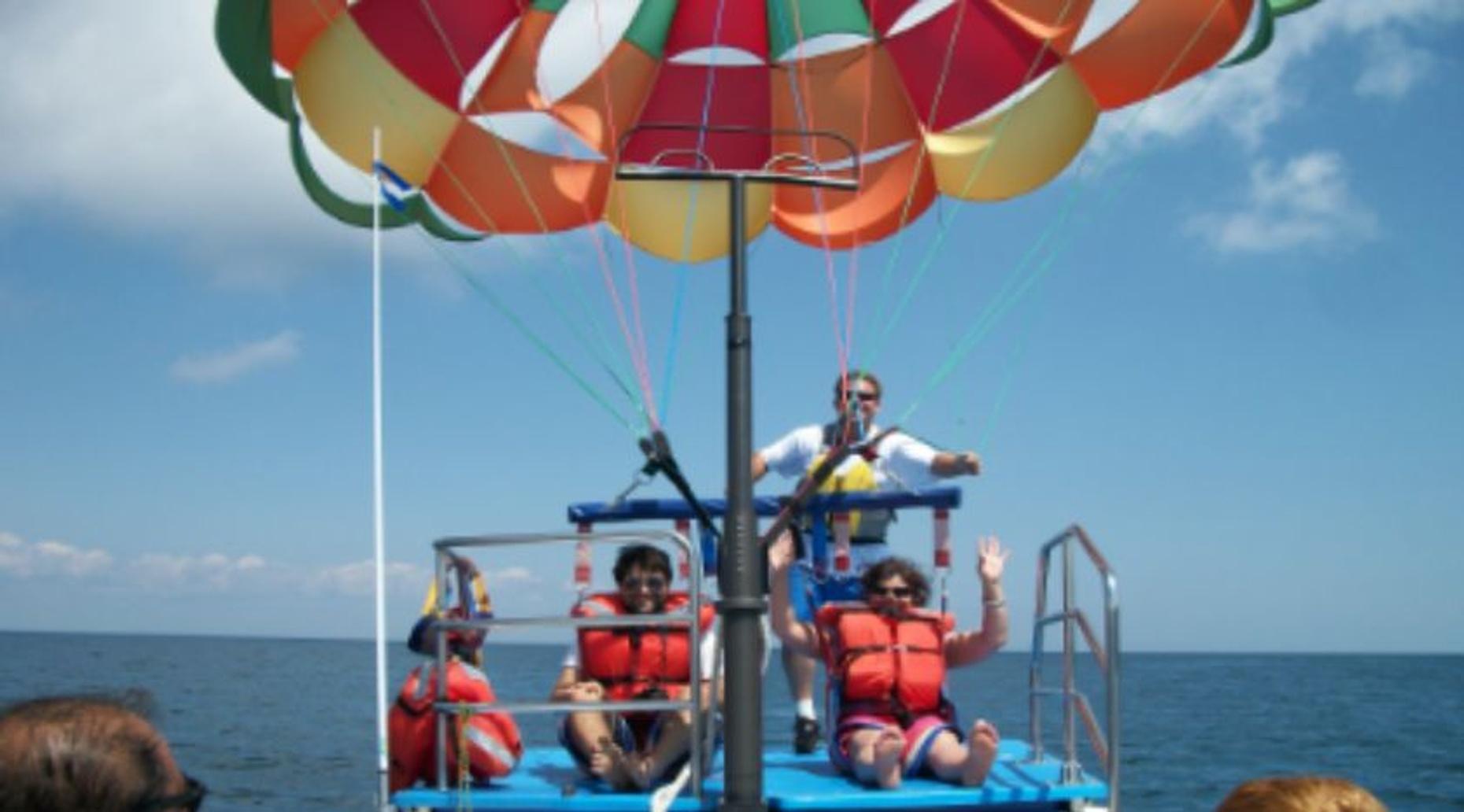 Mackinaw City Parasailing Flight