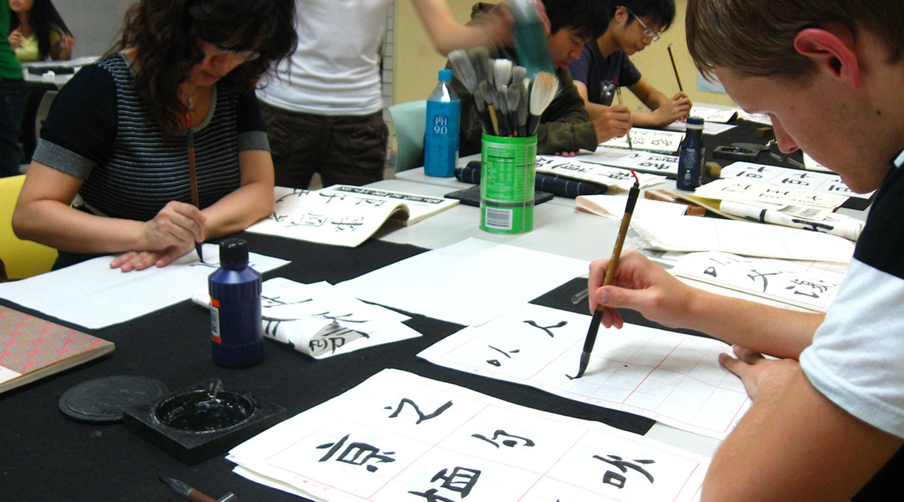 Modern Intro Calligraphy Class in Houston