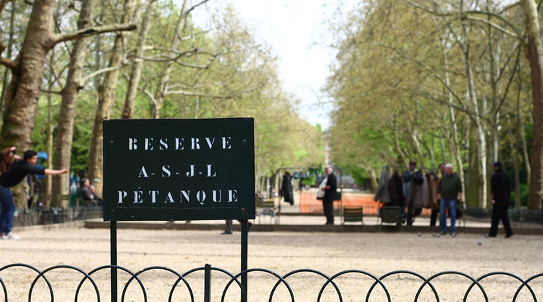 Pétanque in Paris