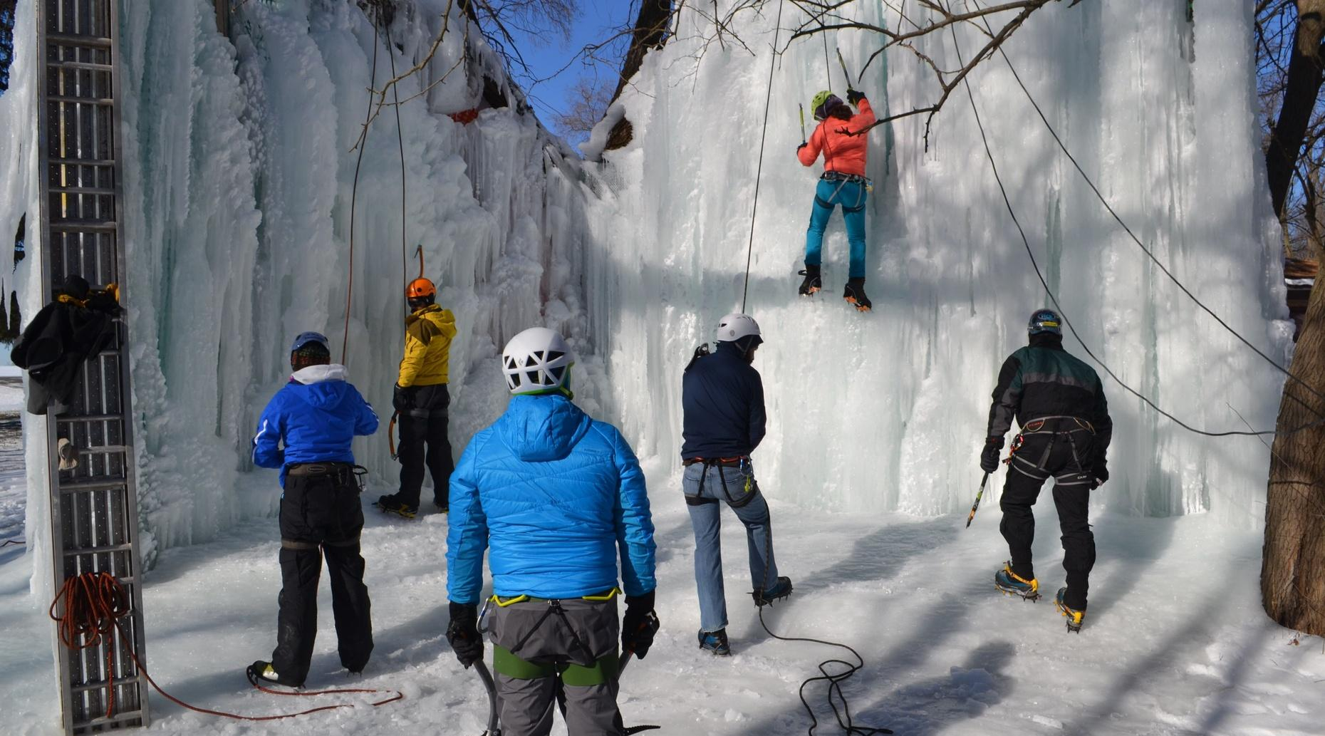 Ice Climbing at the Ice Tower- Monee, IL