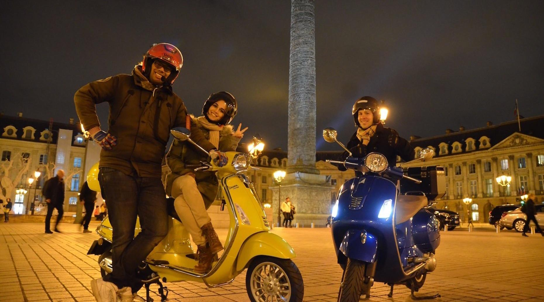 Nighttime Scooter Tour of Paris